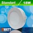 Светильник светодиодный Biom W-R18 W 18Вт накладной круглый белый