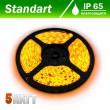 Светодиодная лента B-LED 24V 5050-60 Y IP65 желтый, герметичная, 1м