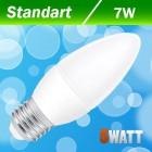 Светодиодная лампа Biom BB-409 C37 7W E27 3000К матовая