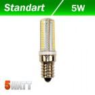 Светодиодная лампа Biom 5W E14 3000K AC220 silicon